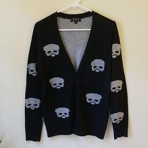 Black & Grey Skull Cardigan